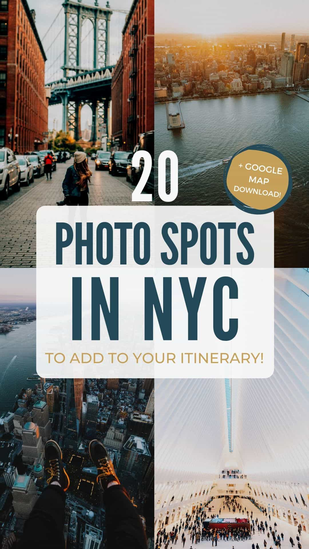 Planning a trip to NYC and ready to take some photos? We're sharing the best Instagram spots in NYC, including iconic buildings like The Flatiron Building, Brooklyn Bridge, Empire State Building, and Grand Central Station! Save this post for the best bucket list photography spots in NYC to plan your best trip yet! #instagram #NYC #newyorkcity #photography #NewYorkNewYork #Newyork #city #travel #photo #brooklynbridge #grandcentralstation