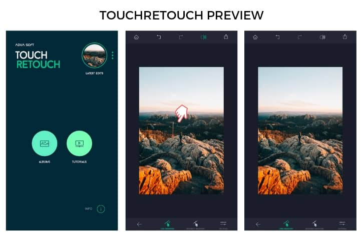 TouchRetouch display for photo editing apps