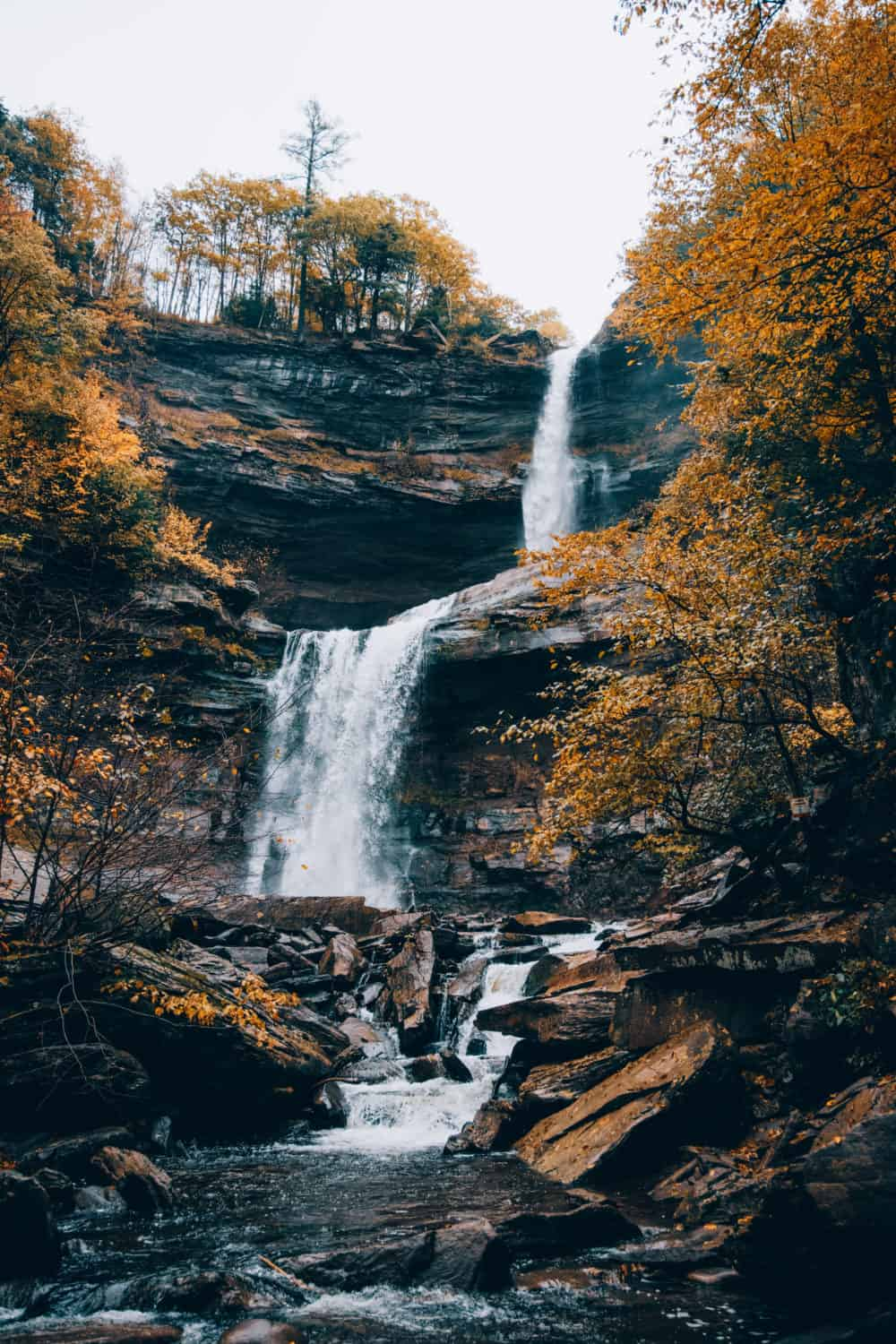 Kaaterskill Falls from the Lower Falls Area - TheMandagies.com