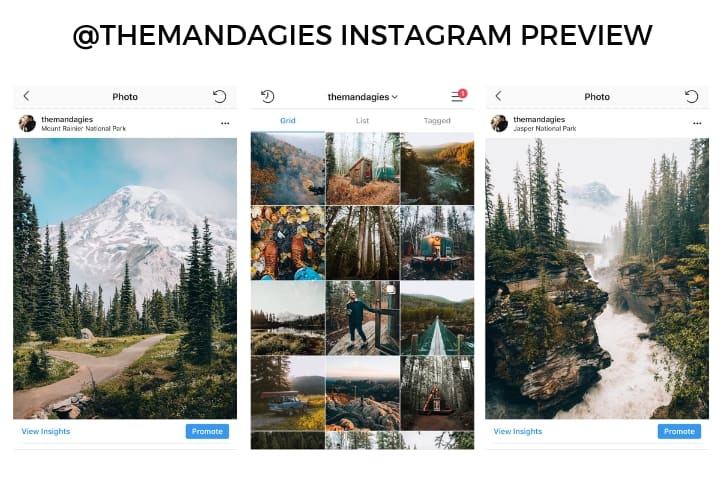 @themandagies Instagram preview -photo sharing app