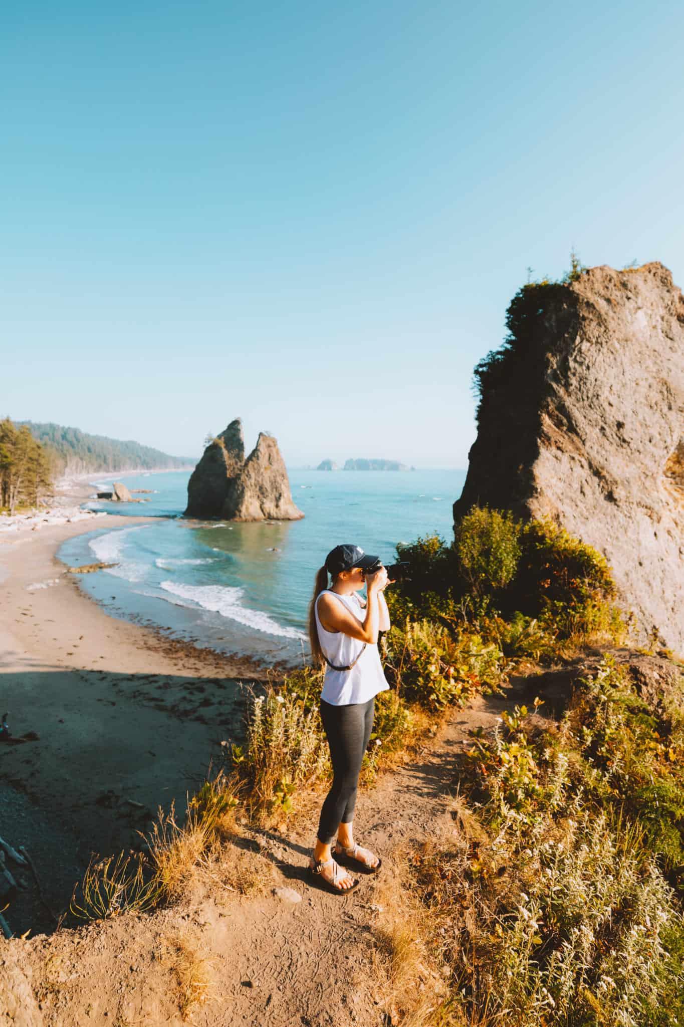 Olympic Peninsula Road Trip Route - Rialto Beach Viewpoint