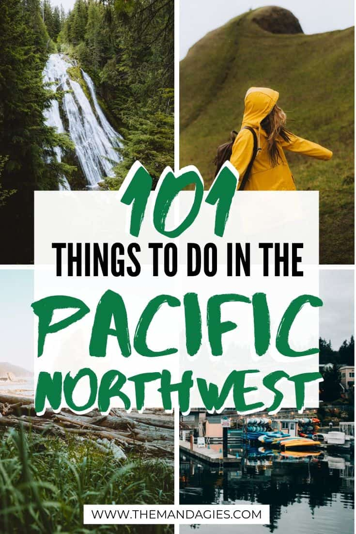 The Complete PNW Bucket List! Looking for the best things to do in the Pacific Northwest? Here's 101 beautiful places in Washington, Idaho, Oregon, BC, Alberta, and Northern California. Click here to get outside! #PNW #pacificnorthwest #washington #oregon #california #Idaho #britishcolumbia #alberta #canada #outdoors #travel #photography #landscape