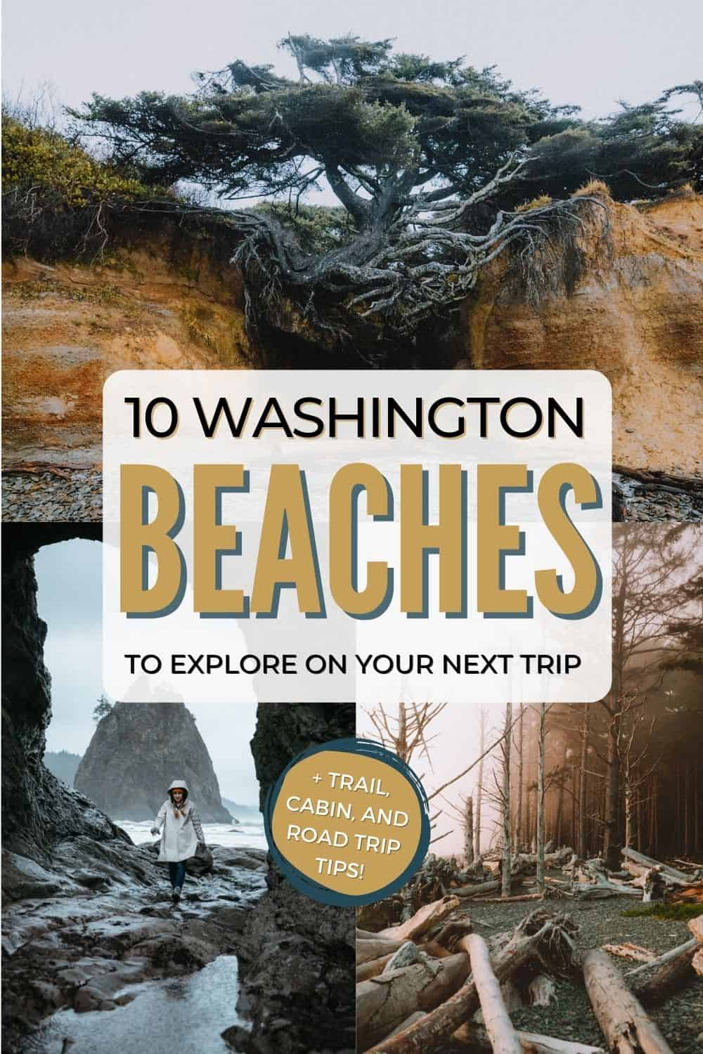 Looking for the best beaches in Washington state? We're coving the best Washington Beaches, including Cape Flattery, Ruby Beach, Rialto Beach, Kalaloch Beach and so many more in the Olympic National Park! #beach #washington #washingtonstate #olympicpeninsula #olympicnationalpark #PNW #pacificnorthwest