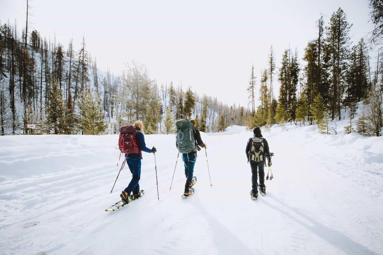 Snowshoeing Idaho city trails