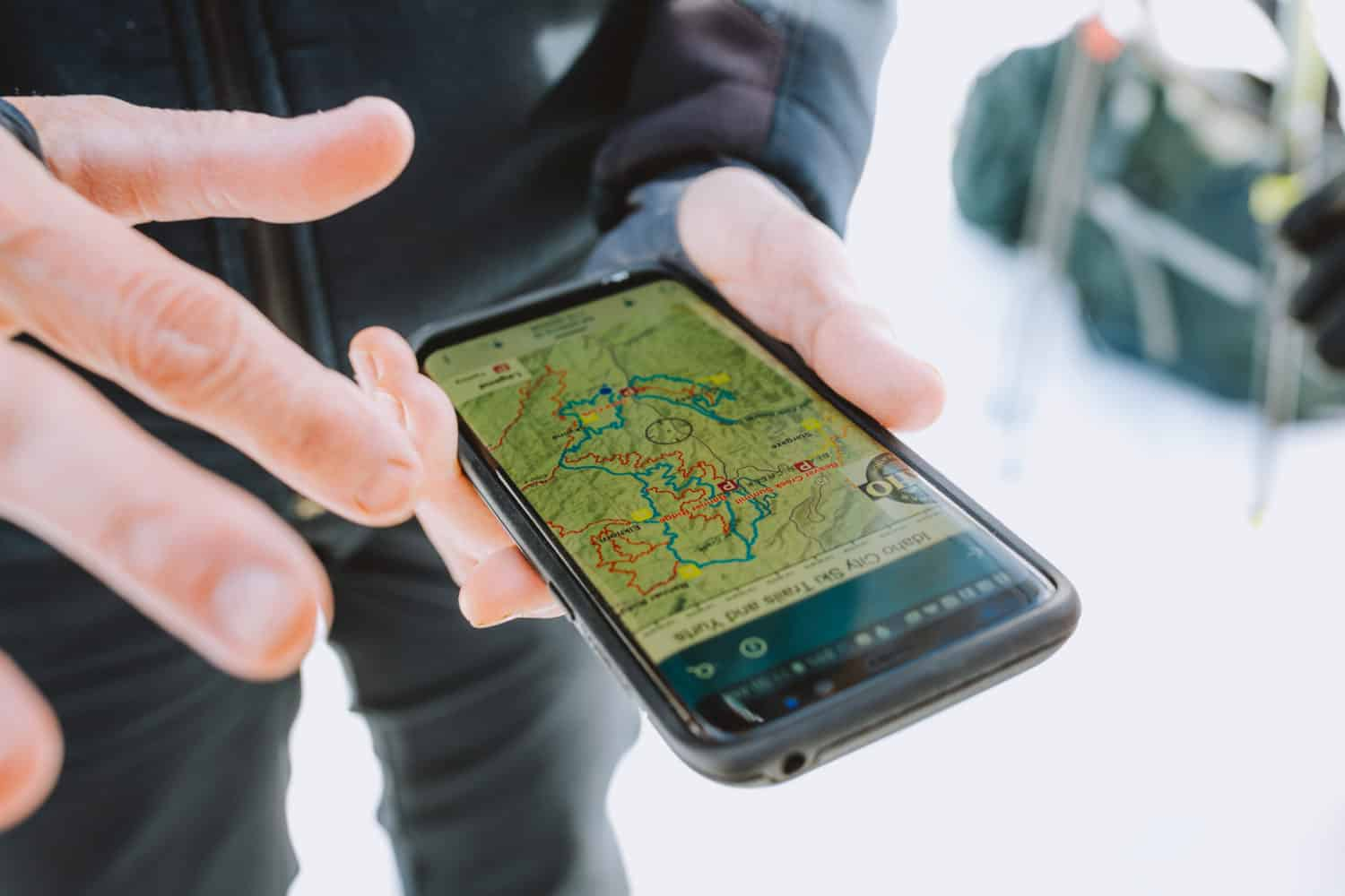 The Avenza App for topo maps and snowshoe trails
