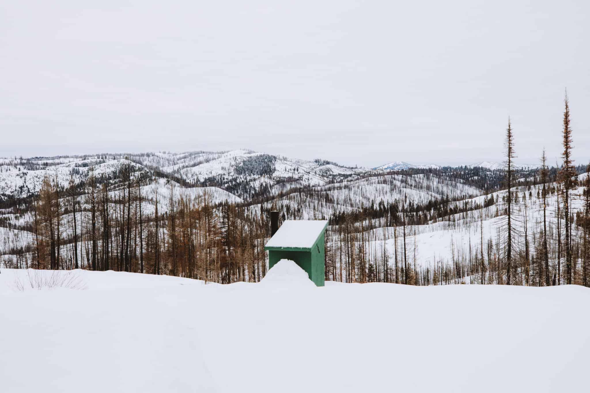 Skyline Yurt outhouse