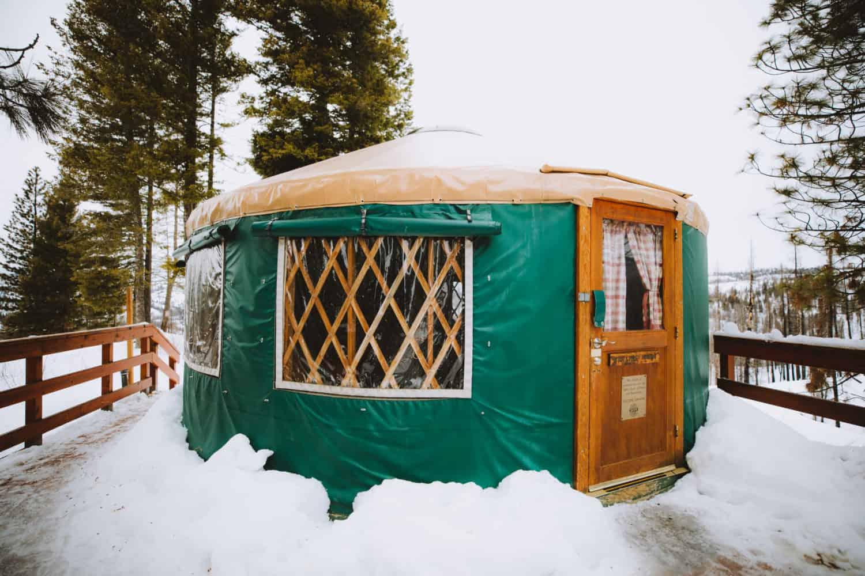 Idaho Backcountry Yurt - Skyline Yurt (TheMandagies.com)