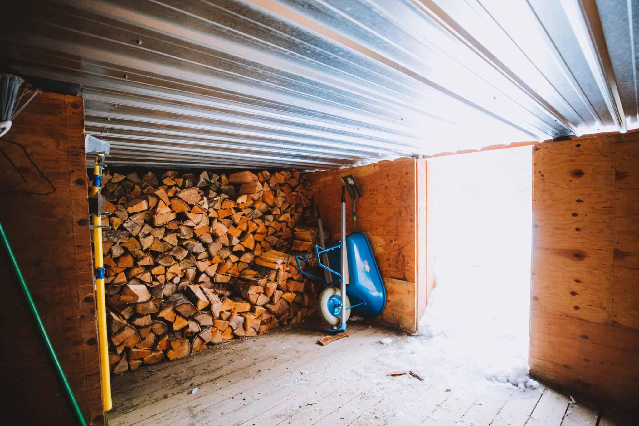 Yurt wood storage