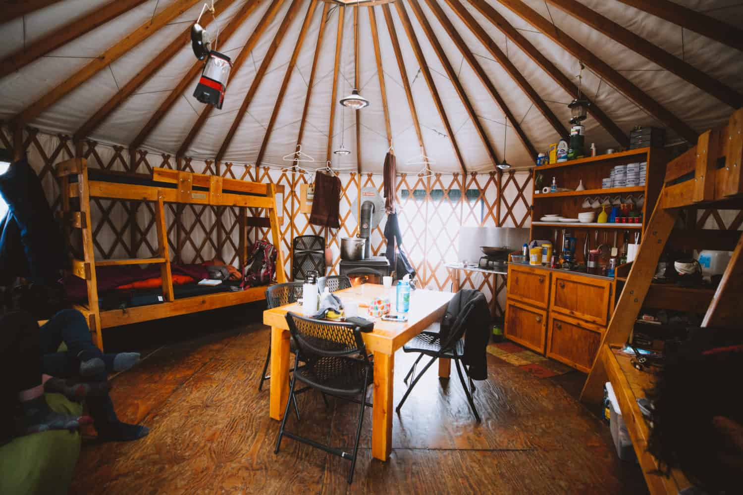 Interior of Skyline Yurt, Idaho
