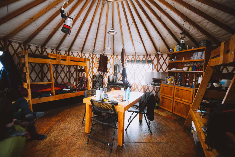 Interior of the Idaho City Yurts