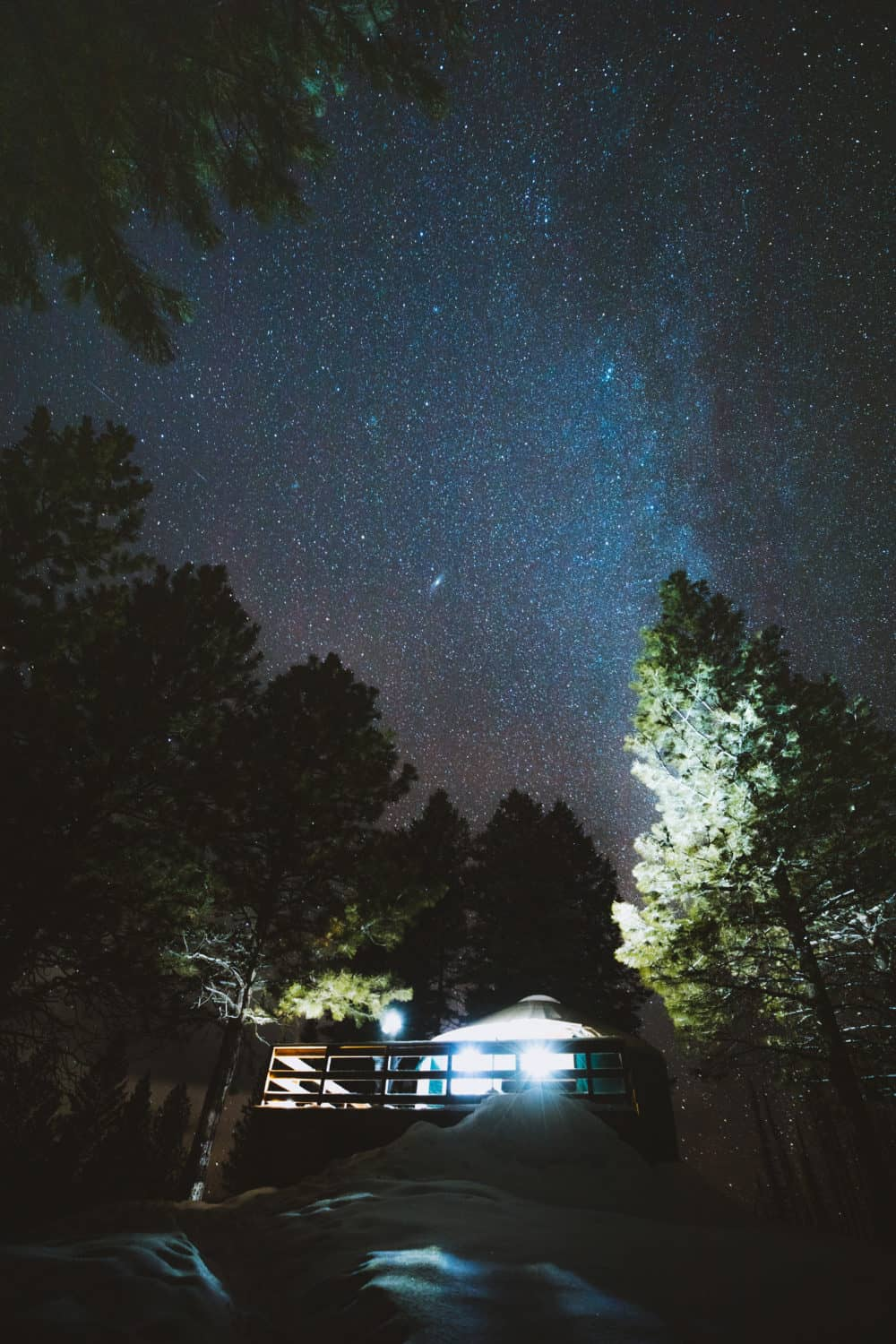 Yurt Camping under the stars (TheMandagies.com)