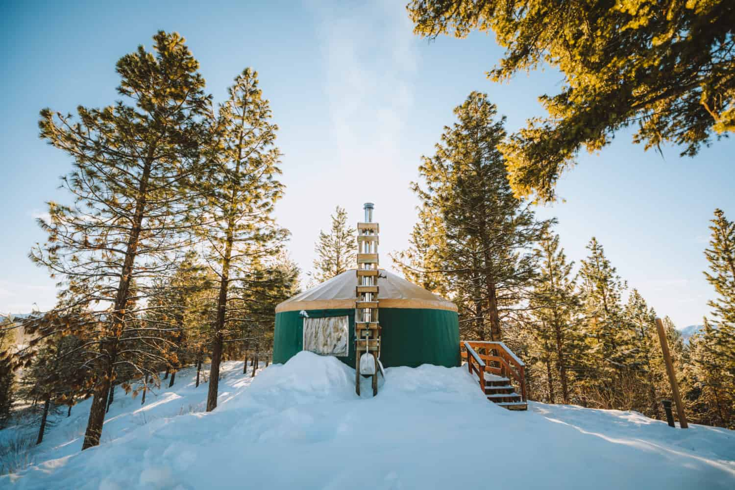 Idaho Backcountry Yurt - Skyline Yurt (TheMandagies.com)