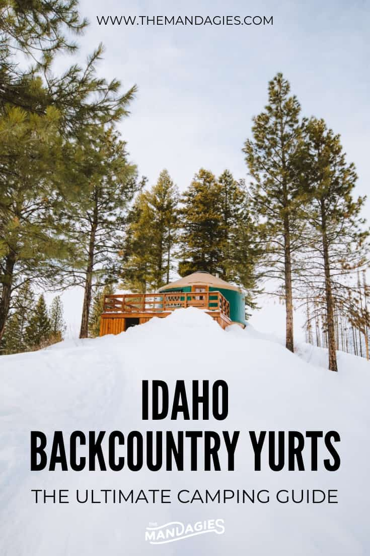 Make your next camping trip one for the books and stay in an Idaho backcountry yurt! Read the ultimate guide to backcountry yurt camping, complete with trail maps, packing lists, winter activities and so much more! #yurt #camping #snowshoeing #idaho #boise #winter #wintercamping #boisenationalforest #idahocity #adventure