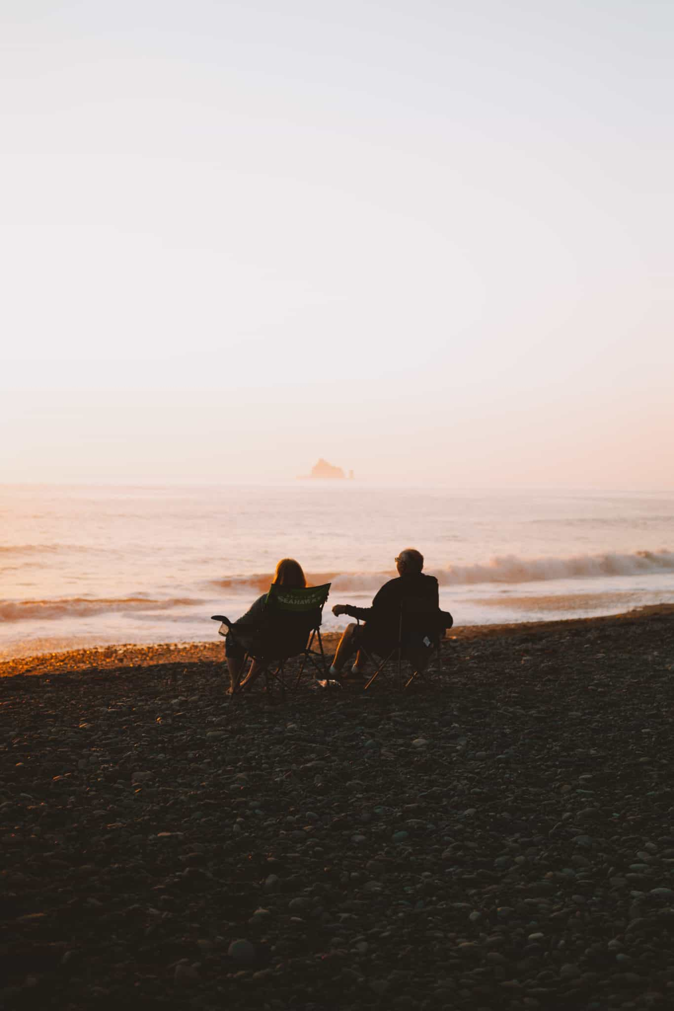 mystery couple at Rialto Beach, Olympic National Park