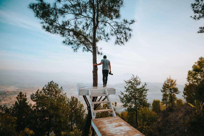 Berty Mandagie at Becici Peak in Yogyakarta, Indonesia - TheMandagies.com