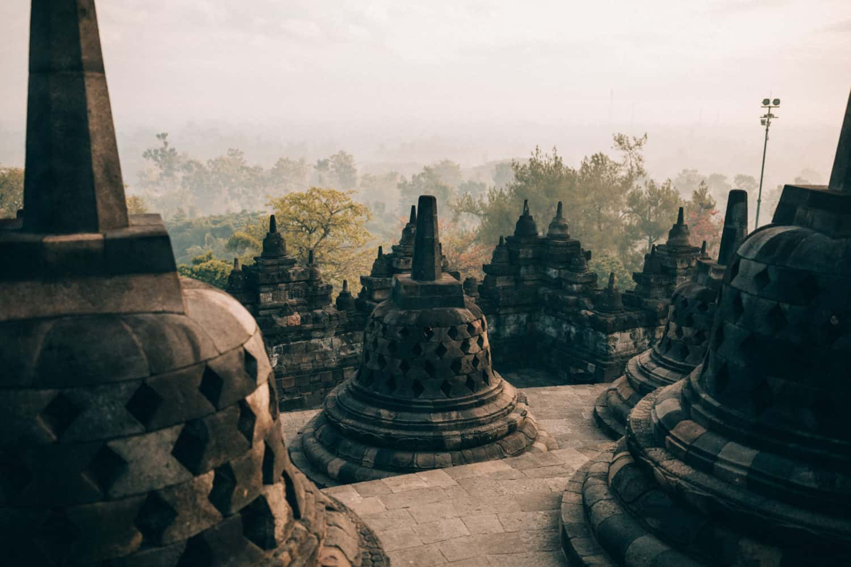 Borobudur Sunrise at Stupas - TheMandagies.com