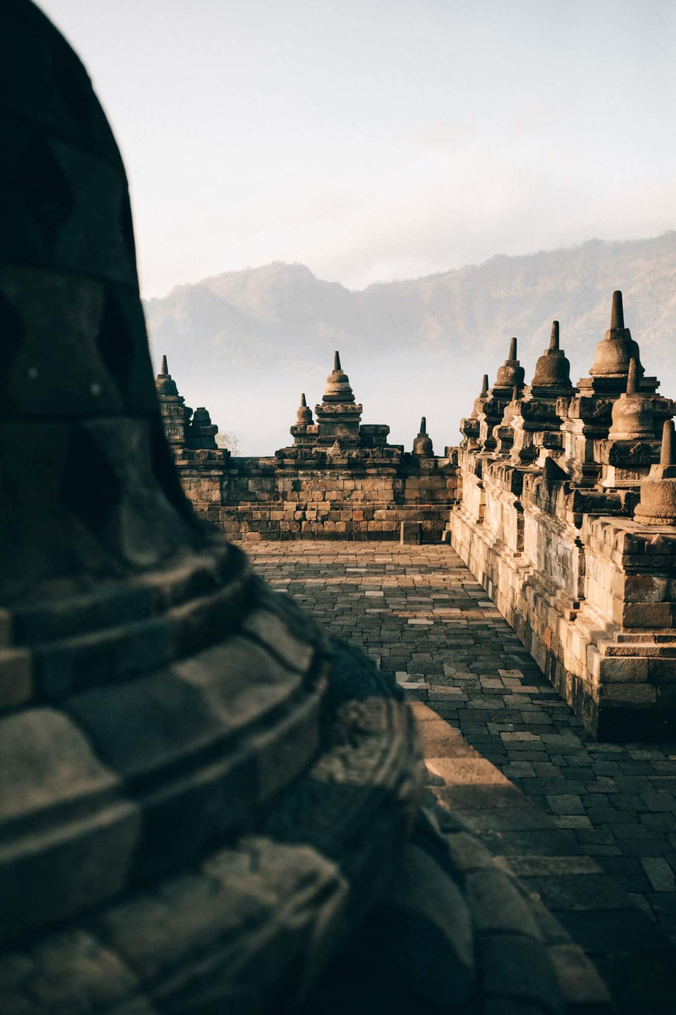 Borobudur Temple during sunrise - TheMandagies.com