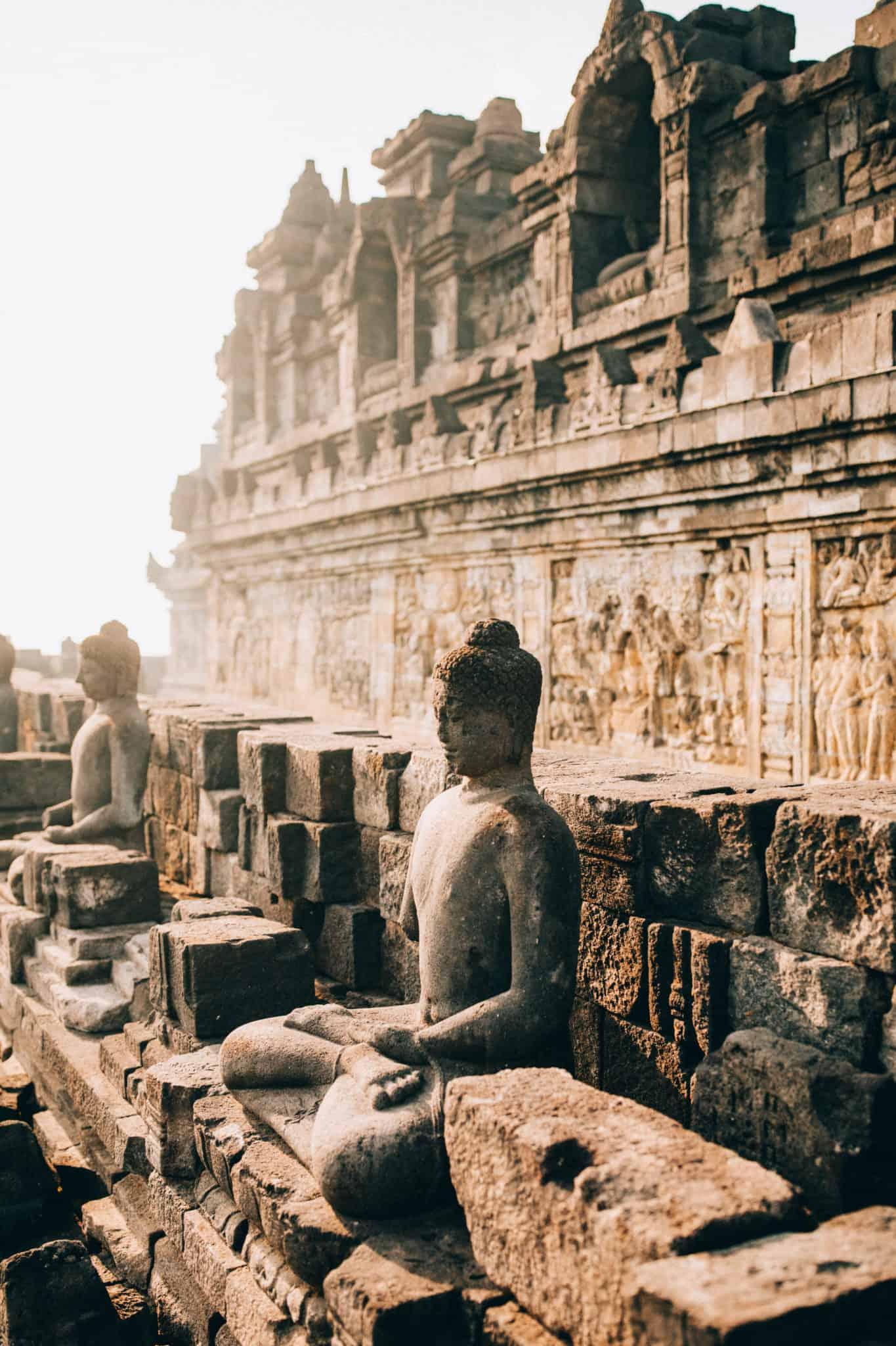 Buddha at Borobudur Temple -TheMandagies.com