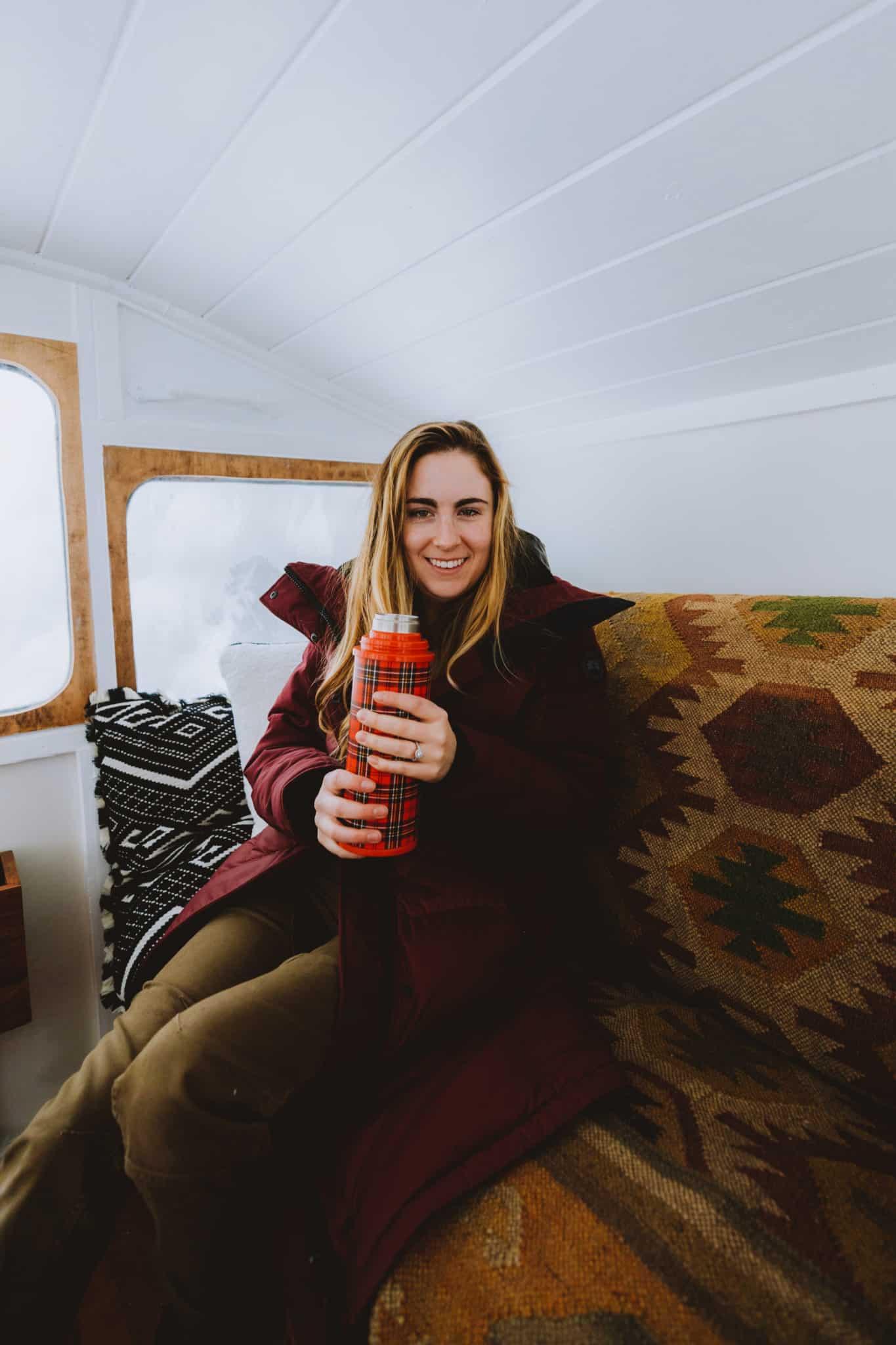 Emily In Crystal Peak Lookout SnowCat