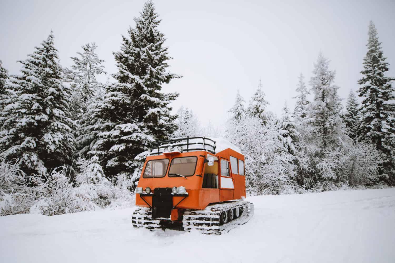 Vintage SnowCat in Ferwood, Idaho