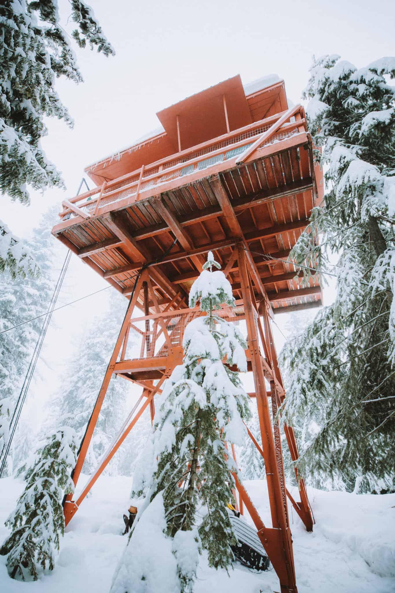 Crystal Peak Lookout from below