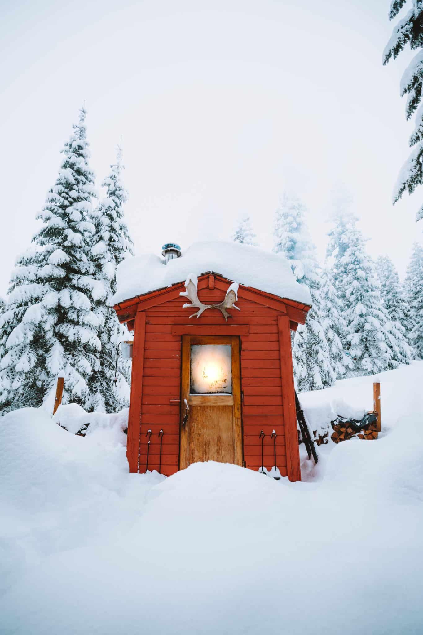Sauna at Crystal Peak Lookout Idaho