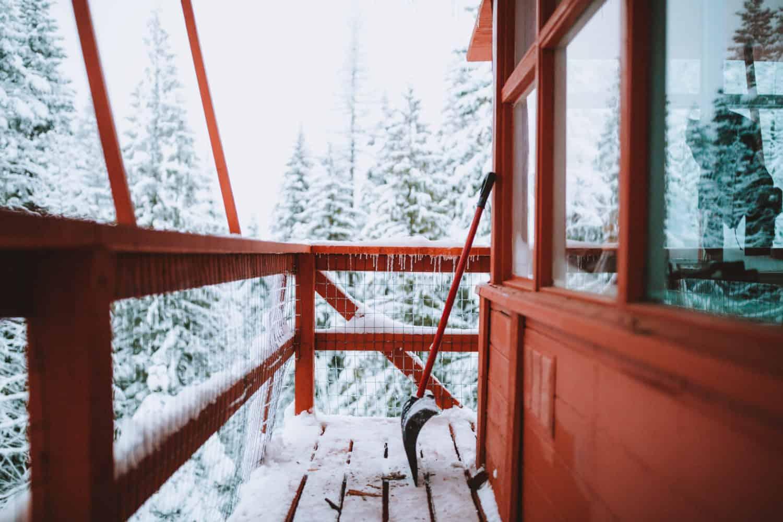 Crystal Peak Lookout snowy deck