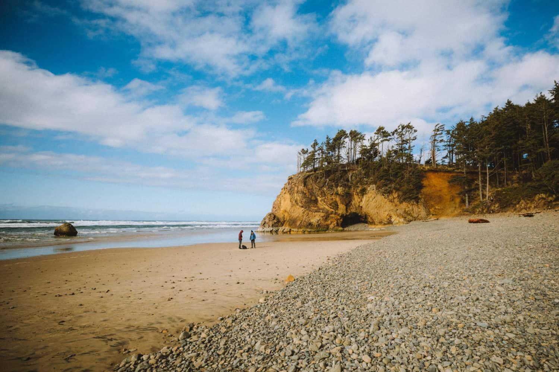 View of Hug Point Beach - Oregon Coast - TheMandagies.com