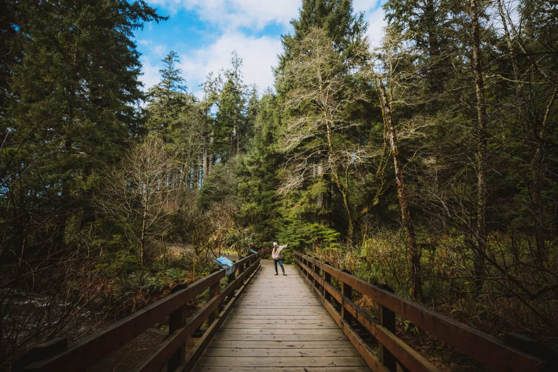 Wooden Bridge at Oswald West State Park - Oregon Road Trip - TheMandagies.com