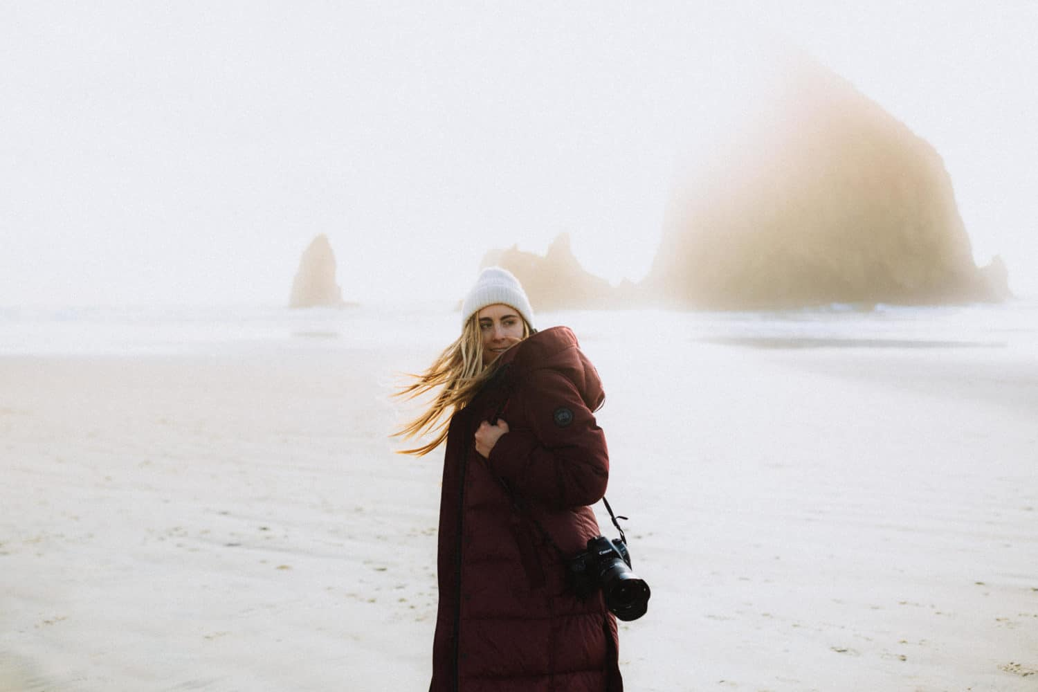 Emily Mandagie in Cannon Beach, The Oregon Coast - TheMandagies.com
