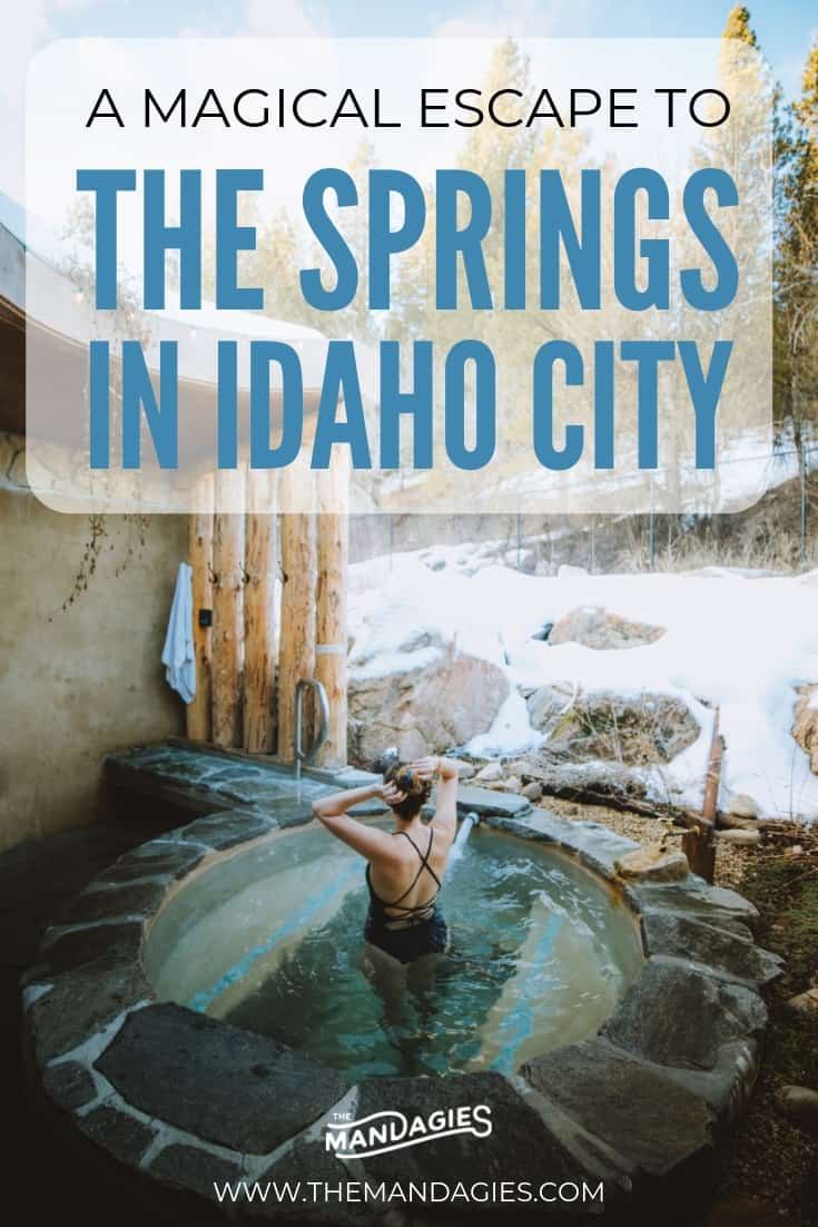 Dreaming of your next hot spring getaway? Discover Idaho's newest hot spring and sap resort, nestled in the mountains just north of Boise. We're sharing details, photos, tips and more! Save this for your next escape! #hotsprings #pacificnorthwest #idaho #TheSprings #steamroom #idahocity #boise #travel #adventure