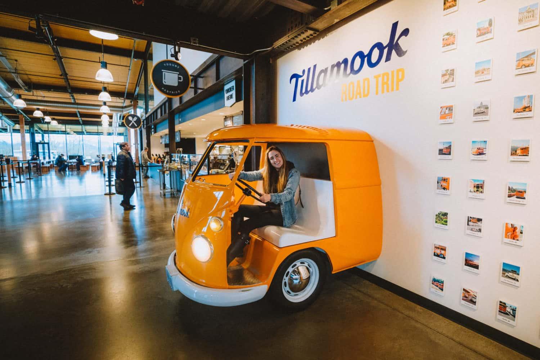 Orange VW Bus at Tillamook Creamery - TheMandagies.com