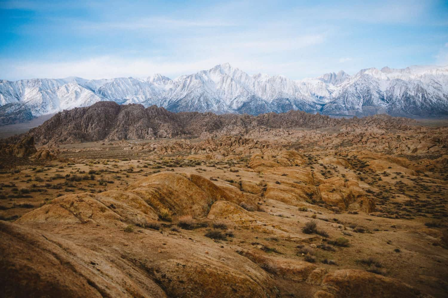 Landscape shot of Alabama Hills, California