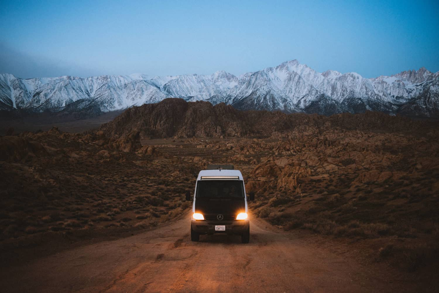 Driving Van on Movie Road, Alabama Hills with Canon EOS R