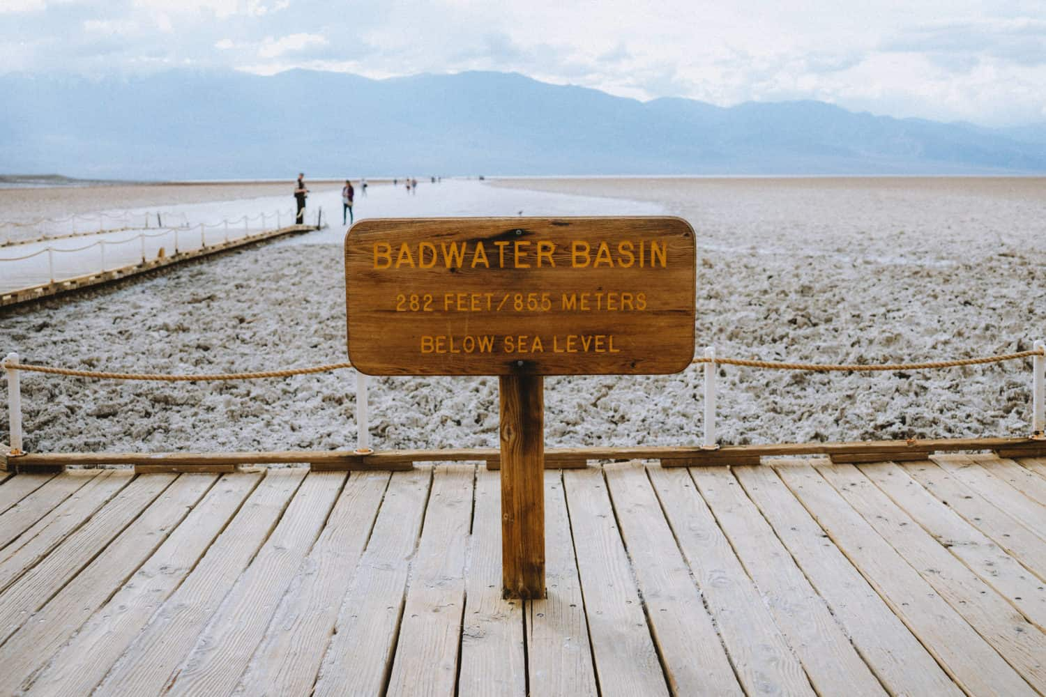 Badwater Basin Sign - Death Valley National Park