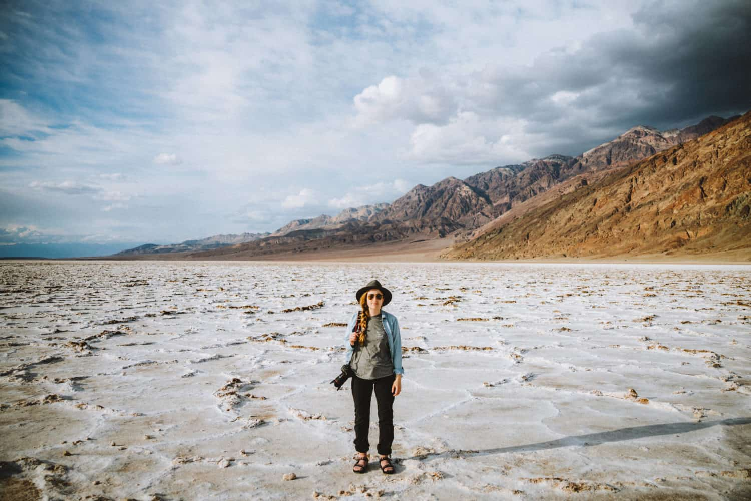 Emily Mandagie standing in Death Valley National Park