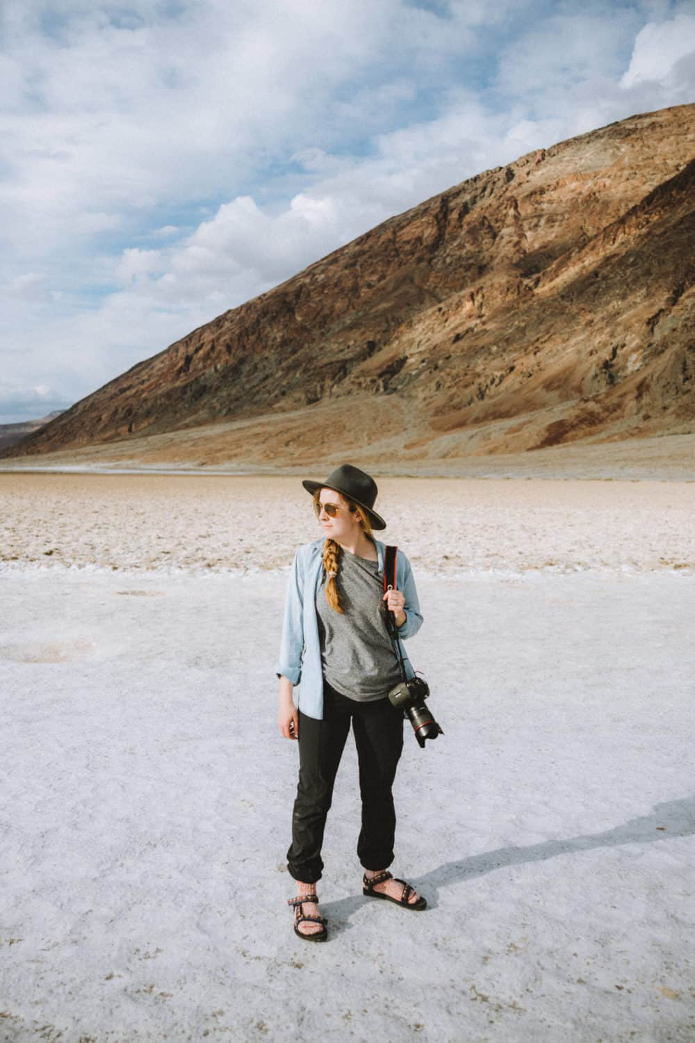 Emily Mandagie standing at Badwater Basin - Death Valley