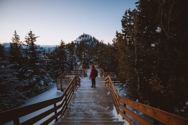 Berty Mandagie walking on Sulphur Mountain Scenic Boardwalks - TheMandagies.com