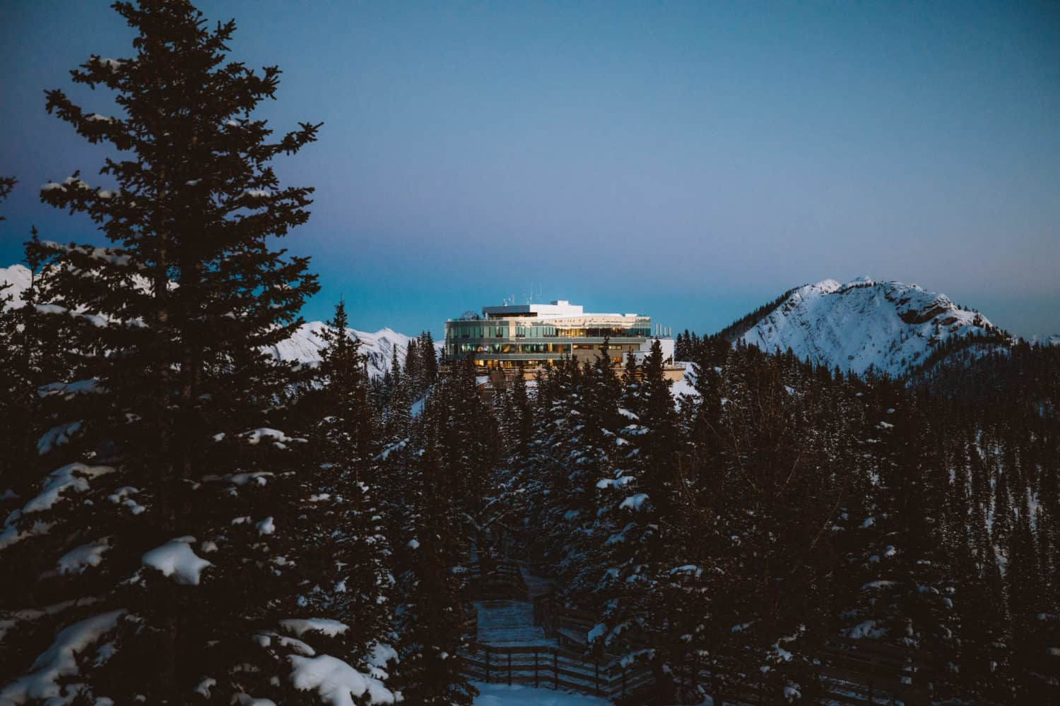 View of Sulphur Mountain Summit House in Banff, Canada - TheMandagies.com