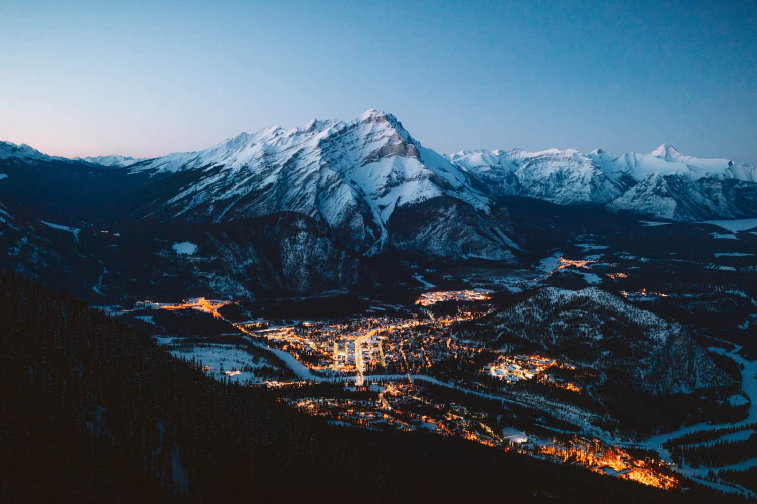 View from Banff Gondola, Banff National Park - TheMandagies.copm
