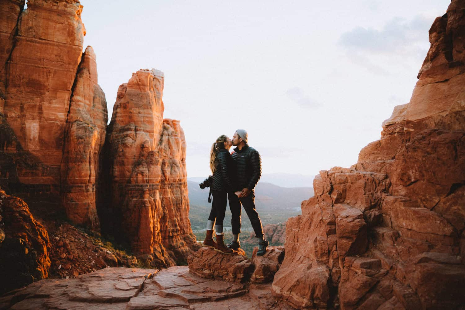 Berty and Emily Mandagie at Cathedral Rock, Sedona - TheMandagies.com