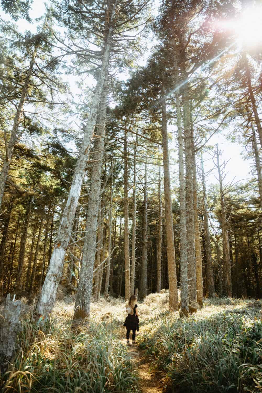 Emily Mandagie at Floras Lake