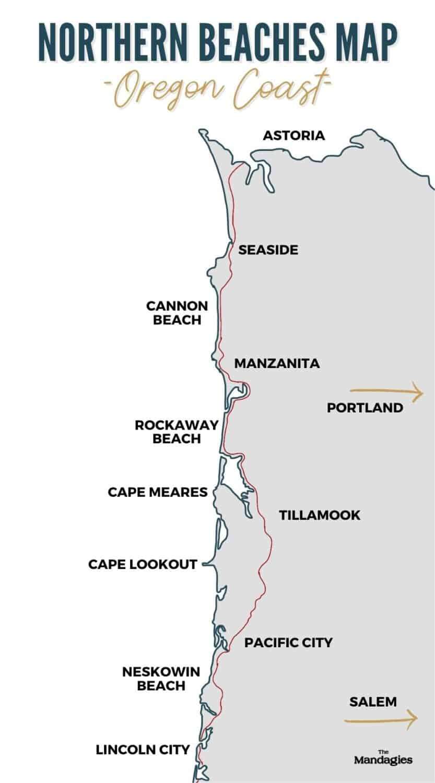 North Oregon Coast Map