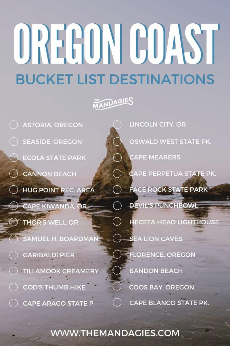 Looking for the most complete Oregon Coast road trip itinerary? Stop you're search because you found it! We're sharing the best Oregon Coast map, camping sites, routes, photo spots and a bucket list here of course! #oregoncoast #camping #bucketlist #pacificocean #PNW #pacificnorthwest #roadtrip #itinerary