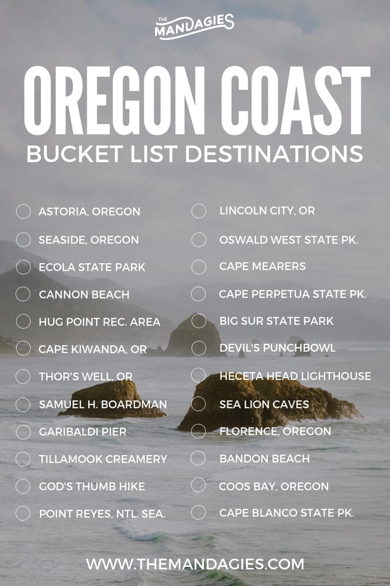 Click to read the ultimate Oregon Coast Road Trip resource! We're sharing Oregon bucket list stops, Pacific northwest hikes, and all the iconic stops on your PNW road trip. Save for your next summer adventure! #oregon #PNW #oregoncoast #cannonbeach #PacificNorthwest #roadtrip #pacificocean #beach #travel #summer #rain #photography #adventure