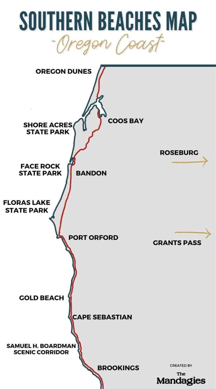Southern Oregon Coast Map