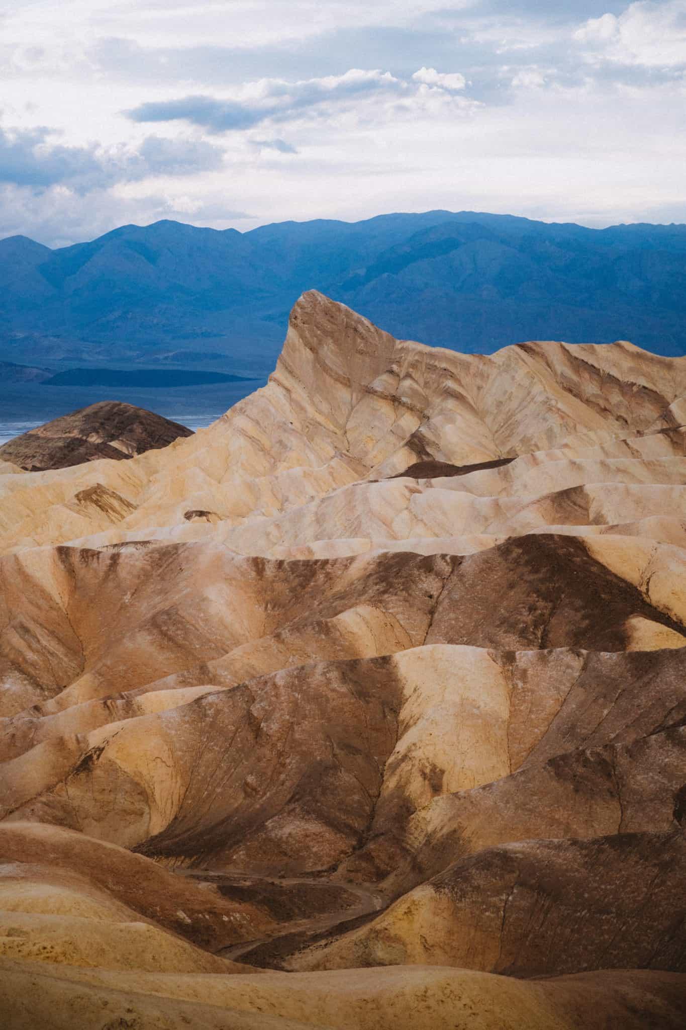 Zabriskie Point at sunrise in Death Valley National Park - TheMandagies.com