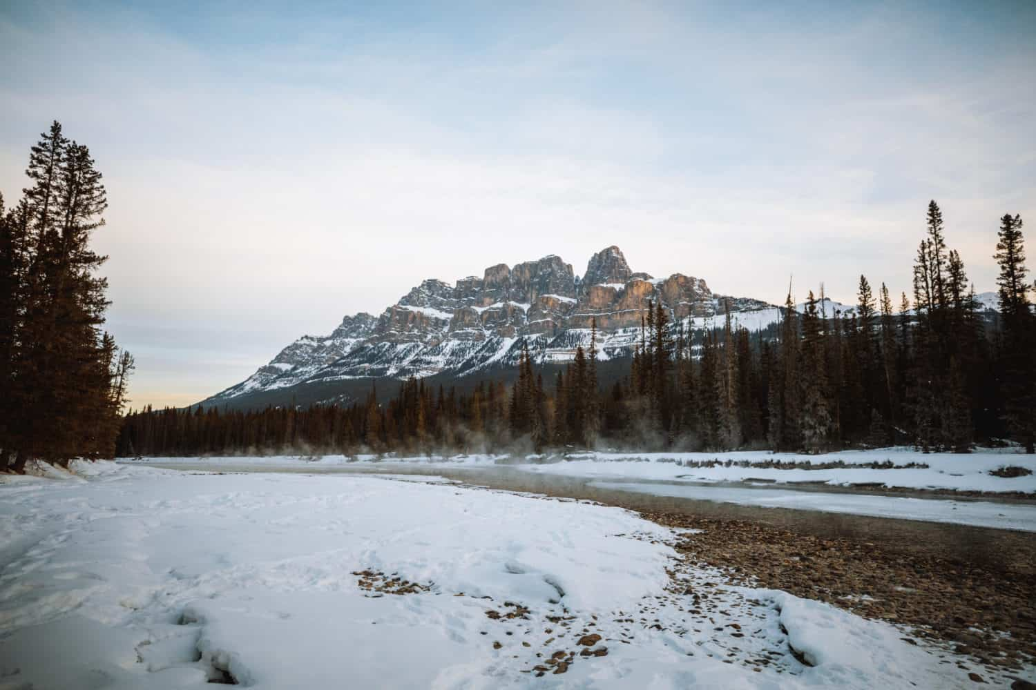 Castle Mountain Sunrise - TheMandagies.com