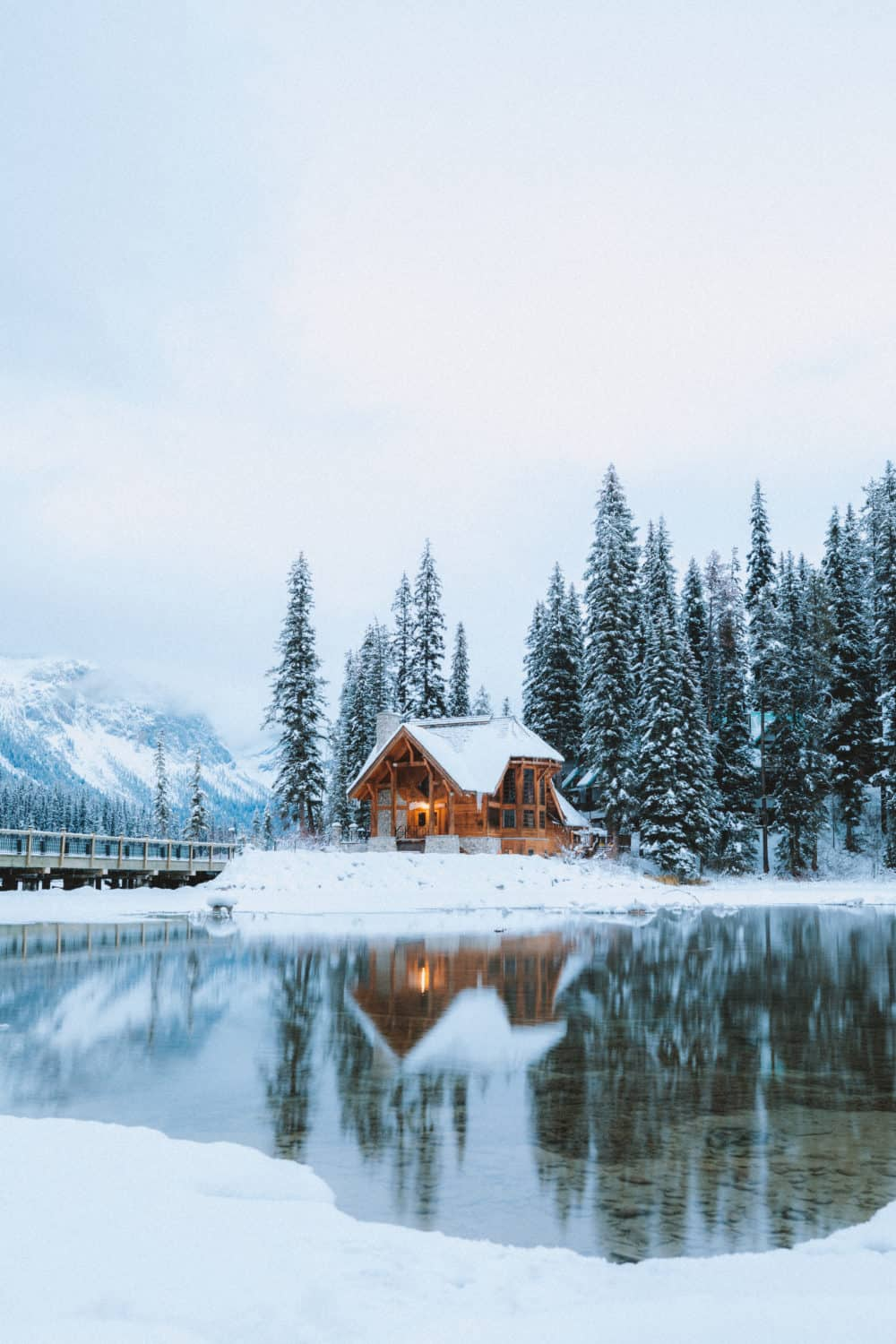 Emerald Lake Lodge in The Canadian Rockies In Winter - The Mandagies.com