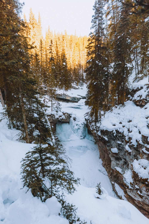 Banff Ice Walk - view of upper falls
